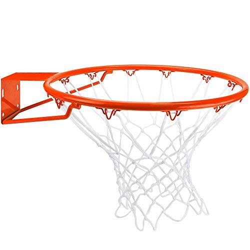 Crown Sporting Goods Edelstahl Basketball Rand mit alle Wetter Net, Standard/45,7cm orange