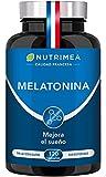 Melatonina Pura, 100% natural Para Mejorar y Conciliar el Sueño, Dormir Bien | Vegano, Sin lactosa, Sin Gluten | 120 Cápsulas Vegetales, Fabricado en Francia