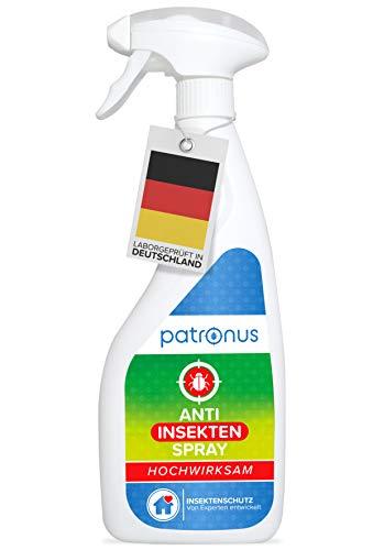 Patronus Universal Insektenspray gegen Ungeziefer 500ml - biologisch abbaubares Mittel gegen kriechende & Fliegende Insekten - geruchsneutral, hochwirksam und laborgeprüft