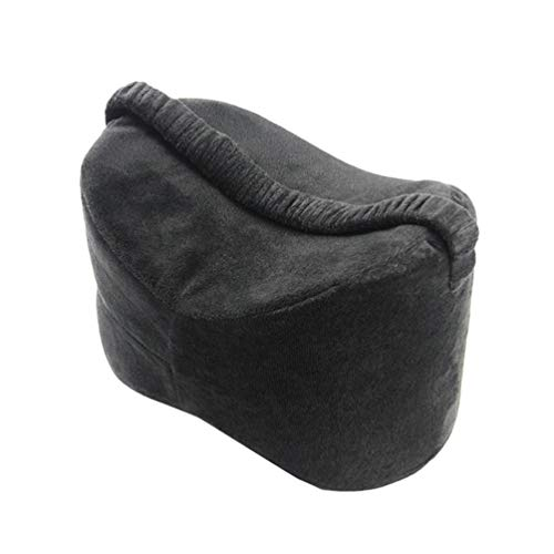 N / A Knee Pillow with Elastic Strap Orthopaedic Pillows for Sleeping with Memory Foam Leg Pillow Knee Support Cushion for Pregnancy Leg Hip Back Pain Relief - Black, 25.5 * 18 * 18cm