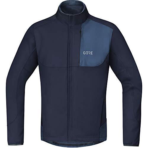 GORE WEAR Men's Cycling Jacket, C5, GORE WINDSTOPPER, L, Orbit Blue/Deep Water Blue