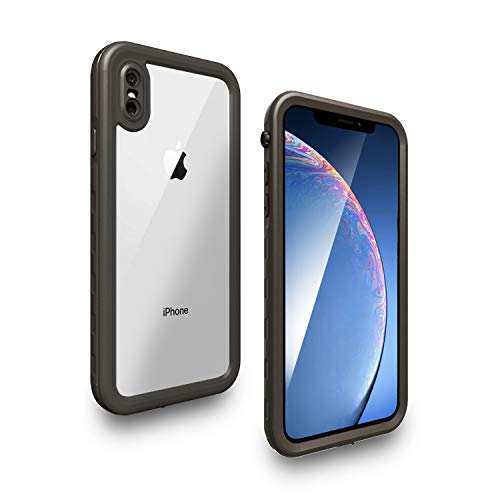 Yuker iPhone Xs Max Waterproof Case, Anti-Scratch Built in Screen Protector, Full Body Protection, IP68 Certified with Face ID Dirtproof Shockproof Snowproof Case for iPhone Xs Max(6.5 inch) (Clear)