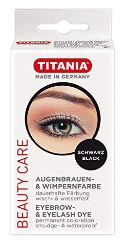 Titania de, cils et sourcils sourcils, dans boîte avec trou Euro, noir, 1er Pack (1 x 64 g)
