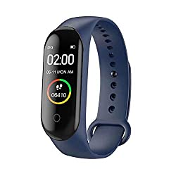 Adlyn M4 Fitness Band, Fitness Tracker Watches for Men | Women | Kids | Unisex Sports Activity Tracker Watch Step Counter Calories Burned, Sleep Monitor SMS, Call Reminder, Camera Shoot (Navy Blue)