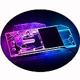 Bykski GPU Liquid Cooler Copper Waterblock G1/4 Full Cover PC Water Cooling Watercooling Block for Graphics Card MSI RX 5700 XT MECH/Evoke Sapphire Pulse RX 5700 XT (12V RGB LED)