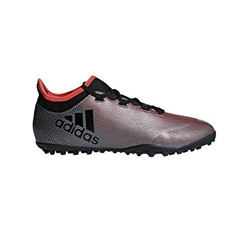 adidas X Tango 17.3 TF, Zapatillas de Fútbol para Hombre, Gris (Grey/Core Black/Real Coral S18), 48 EU