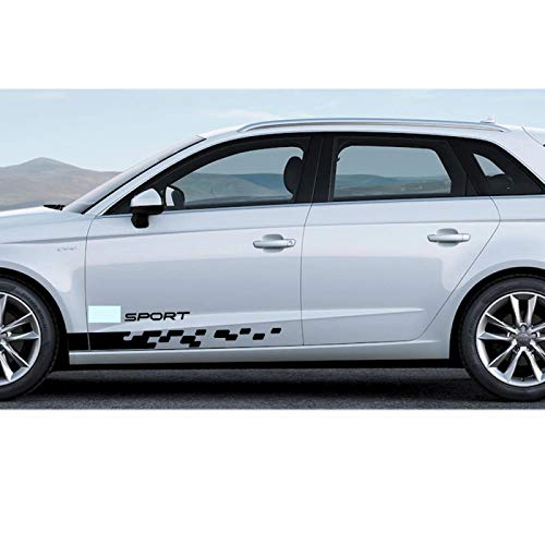 Rtyuiop Raya Lateral de la Etiqueta engomada del Coche, para Audi A1...