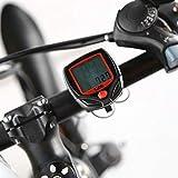 KUANGQIANWEI Compteur Velo sans Fils Ordinateur de vélo avec écran LCD numérique...