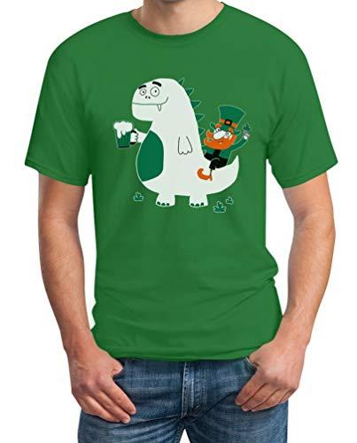 Shirtgeil St. Patrick's Day Draak Kobold Bier Heren T-Shirt