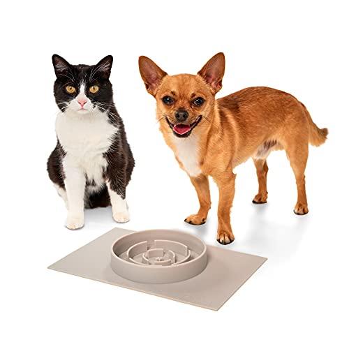 PiuPet Alimentador lento - Comedero lento para perros y gatos - Bol de comida lenta apto para el lavavajillas - Bol interactivo para llevar