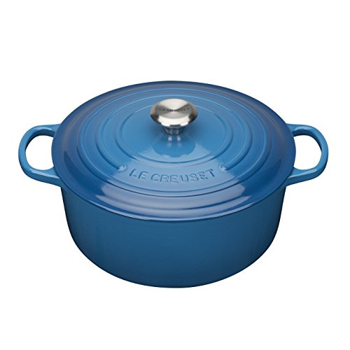 Le Creuset Enameled Cast Iron Signature Round Dutch Oven, 5.5 qt., Marseille