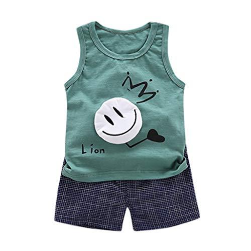 Julhold Kleinkind Kind Baby Mädchen kühle Karikatur Shirt Oberseiten Kurzschluss Hosen 2pcs Kleidung stellte 0-5 Jahre