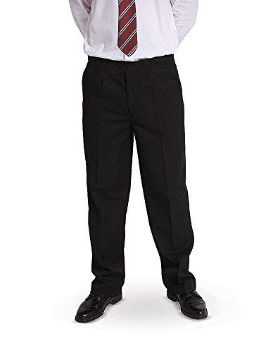 """Price comparison product image Direct Uniforms BOYS PLUS SIZE / STURDY FIT SCHOOL TROUSERS SHORT LEG (L Waist 32-36"""" inside leg 26,  BLACK)"""