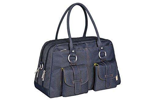 Lässig Vintage Métro de/à langer sac à langer, bleu denim