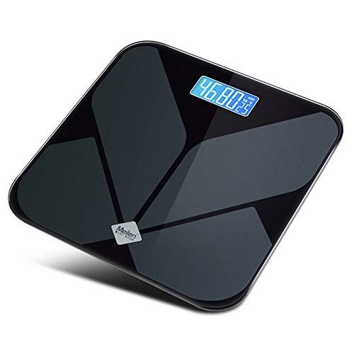 TL Intelligent Multi-Funktions-Körperfettwaage, Haushalt Elektronische Waage Körperfettwaage, ausgeglichenes Glas druckfest und haltbar, Schwarz