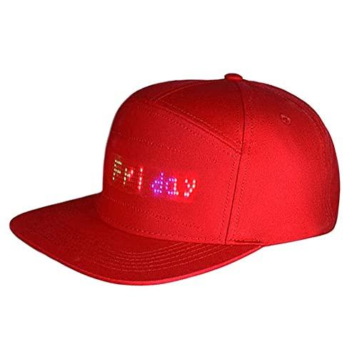 Sombrero LED Hip Hop con Bluetooth, LED, gorra de béisbol, luz LED, resistente al agua, controlado por smartphone, sombrero luminoso para baile de calle, publicidad, escritura de carreras, DJ/fiesta