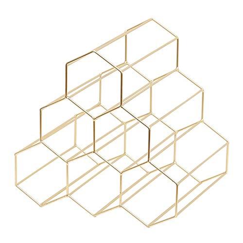 NXYJD Creativa geométrica Simple Estante del Vino del Metal del hogar de la UVA de Vino en Rack Restaurante Living Room Bar gabinete del Vino Vino Ver