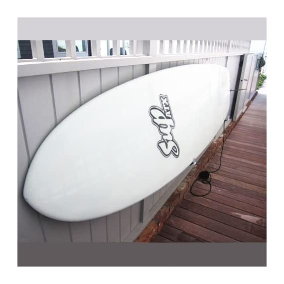 Paddle board wall rack 2 stylish indoor wall storage solution. Minimalist design that holds up to 40 lbs fits most paddel boards up to 6 inches in thickness