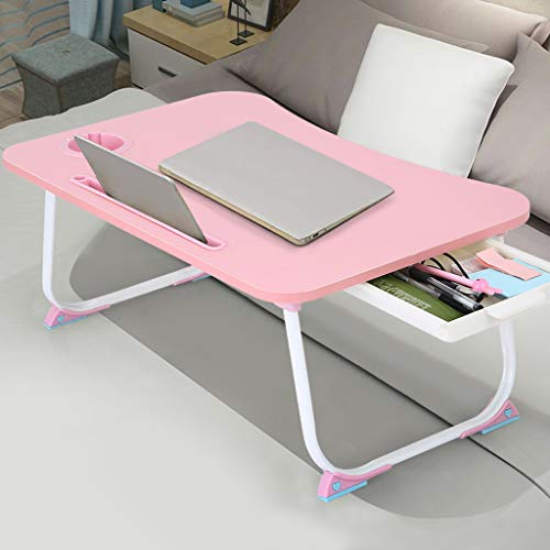 【US Stock】- Arystk Home Computer Desk Desktop Bed Tray Foldable Portable Multifunction Laptop Lazy Table