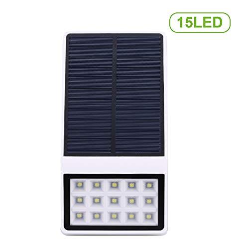 Lixada 15 LEDs op zonne-energie wandlamp bewegingsmelder licht IP65 waterbestendige inductielamp voor het menselijk lichaam veiligheid buitenverlichting voor de binnenplaats van het terrasweg