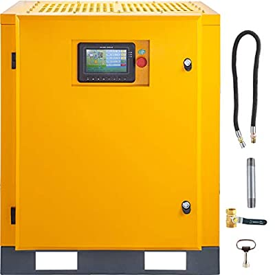 VEVOR Rotary Screw Air Compressor 11kW/15HP Screw Compressor 3 Phase Air Compressor 54cfm Rotary Compressor 116PSI Rotary Screw Compressor with 220V/60Hz 3ph Powerful Motor Spin-on Air Oil Separator from VEVOR