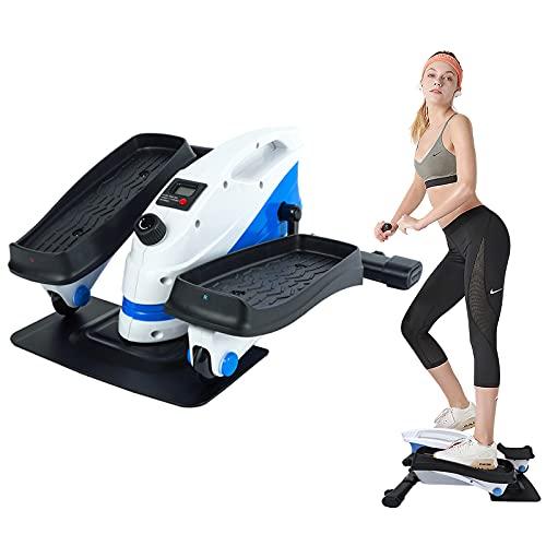 SSPHPPLIE Under Desk Elliptical Machine, Under Desk Bikes Trainer, Mini Cycle Exercise Bike with Built in Display Monitor & Adjustable Resistance for Home Office Workout