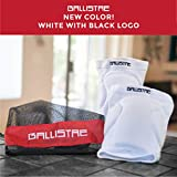 Ballistae Kneepads | Made for Dodgeball Players by Dodgeball Players | (White, Medium)