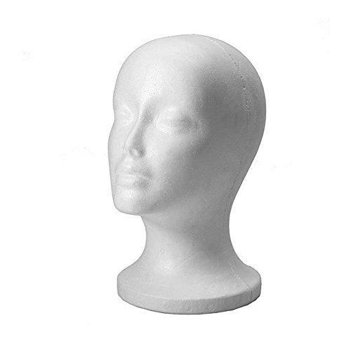 Perückenkopf, aus Styropor