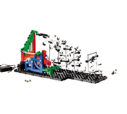 Playtastic Profi Kugelbahn: Kugel-Achterbahn Schwierigkeitsstufe II, 245 Teile (Space-Rail-Achterbahn-Bausätze)