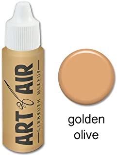 Art of Air Airbrush Makeup - Foundation 1/2oz Bottle Choose Color (Golden Olive)