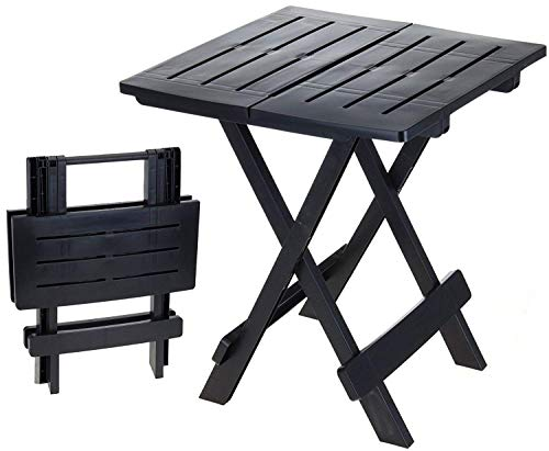 2 Kleuren 45 cm Kampeertafel Bijzettafel wit opvouwbaar Plastic Drop-leaf tafel Zwart