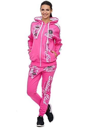 Violento Damen Jogging-Anzug | Sailing Club 701 (XXL-fällt groß aus, Pink)