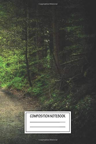 Composition Notebook: Landscapes Forest Path Woodland Wide Ruled Note Book, Diary, Planner, Journal for Writing