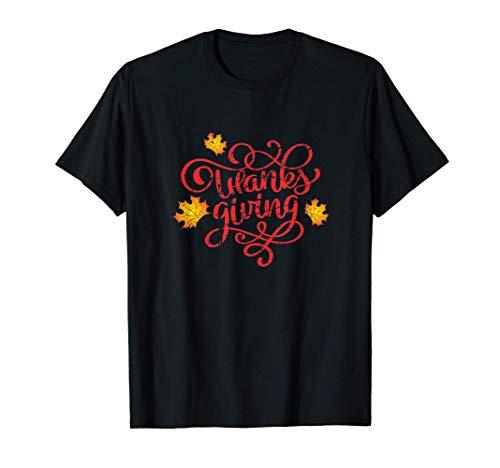 Ferienzeit Herbst Thanksgiving Herbst Ahornblatt Design T-Shirt