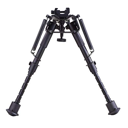 CVLIFE 6-9 Inches Tactical Rifle Bipod Adjustable Spring Return with Adapter