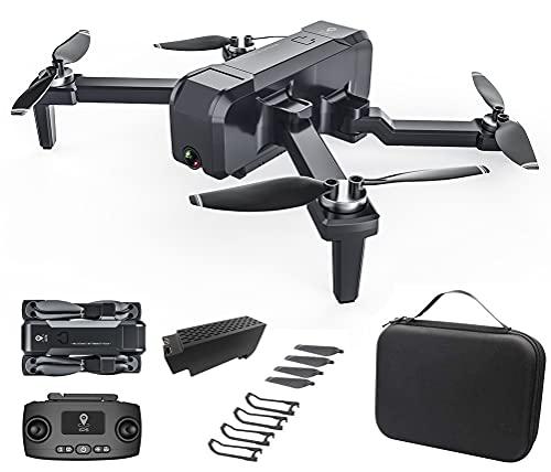 Dron GPS con Cámara HD, Dual Cámara, Ajuste de 90 Grados de Cámara, Profesional 5G WiFi FPV Quadcopter Plegable, Altitude Hold, Sígueme, Regreso con Solo Botón, Retorno de Batería Baja, Negro
