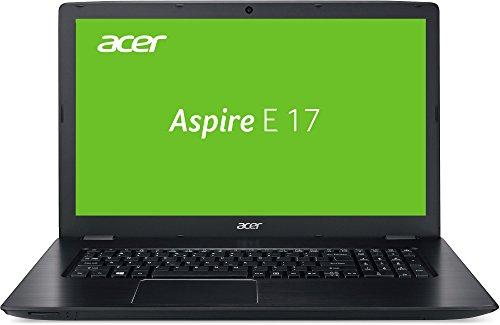 Acer Aspire E 17 (E5-774-320D) 43,94 cm (17,3 Zoll HD Plus) Laptop (Intel Core i3-6006U, 8GB RAM, 256GB SSD, 1000GB HDD, Intel HD, Win 10 Home) schwarz