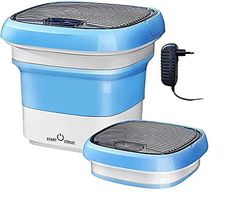 Whixant Washing Machine Mini Foldable Portable Compact Ultrasonic Small Automatic Cleaning Washer with Capacity of 2 kg for Travel Home Business Trip (Multi)