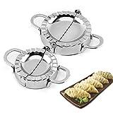 Stampo per Ravioli Dumpling 2 Pezzi Stampo per Gnocchi Ravioli in Acciaio Inox Pasta Stampa Dumpling Pie, Wraper Dumpling Maker Stampi Utensili da Cucina Accessori da Cucina