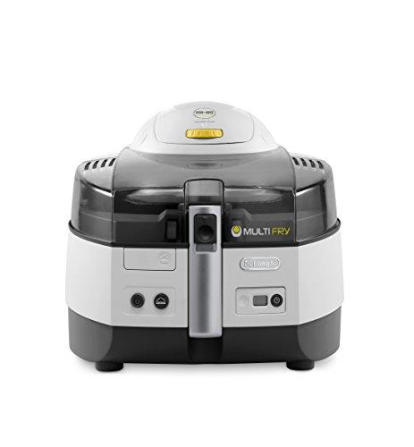 De\'Longhi Heißluftfritteuse MultiFry EXTRA FH1363 Multicooker mit 4-in-1 Funktion, auch zum Brotbacken, 1500 Watt, grau