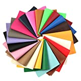David accessories Lychee Pattern Printed Faux Leather Sheets Solid Color Synthetic Leather 21 Pcs 8 x 13'(20 x 34cm) Assorted Colors for DIY Earrings Hair Bows Making (Big Pattern Printed)