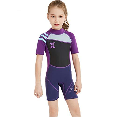 Kids 2.5MM neopreen Wetsuit met lange mouw UV-bescherming Shorty Pak for Duiken Snorkelen Zwemmen Surfing