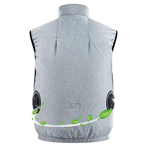 Veste de Vêtements de Climatisation Ventilateur Rechargeable Coton Élastiqué Adultes,M
