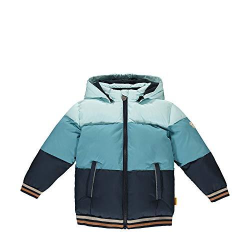 Steiff Jungen mit süßer Teddybärapplikation Jacke, Blue Glow, 080