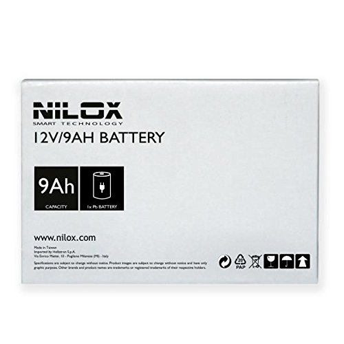 Nilox 17NXBA9A00001 Gruppo di Continuità UPS da 1100VA / 550W, 2 Uscite, Nero