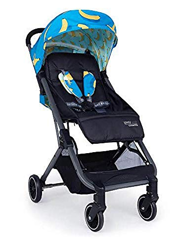Cosatto UWU Mix Pushchair – Compact City Stroller - Suitable from Birth to Toddler, Easy Fold, Pull Along Handle (Go Bananas)