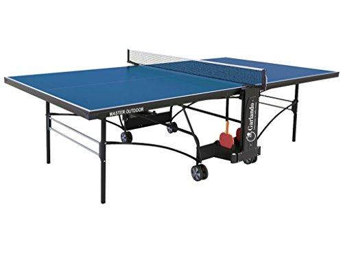 Garlando Tavolo da Ping Pong Master Outdoor con Ruote per Esterno Blu