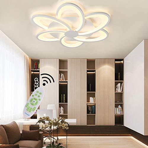 Moderna lámpara LED de techo regulable para salón, lámpara de techo de flor acrílica con mando a distancia, dormitorio, decoración para mesa de comedor, cocina, baño, casa de campo