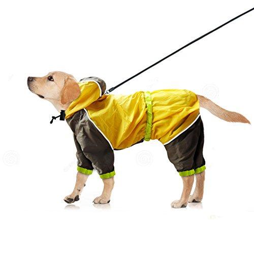 Dog Raincoat Yellow Waterproof Slicker