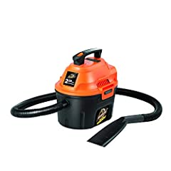 2.5 Gallon Polypropylene Tank 2 Peak HP Motor 10 Ft. Cord With Cord Wrap Blower Function – Easy Conversion On-board Accessory & Hose Storage